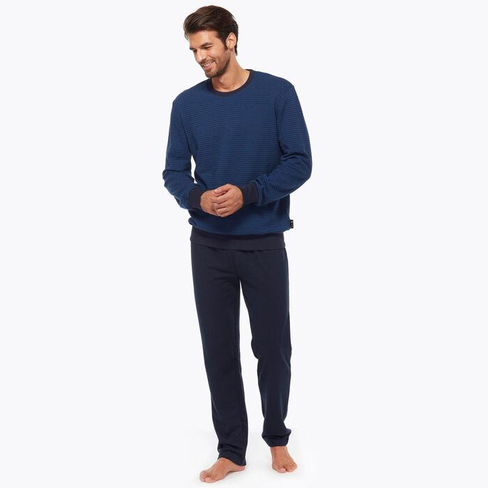 Ensemble de pyjama pour Homme Bleu Nuit à rayures, , DIM