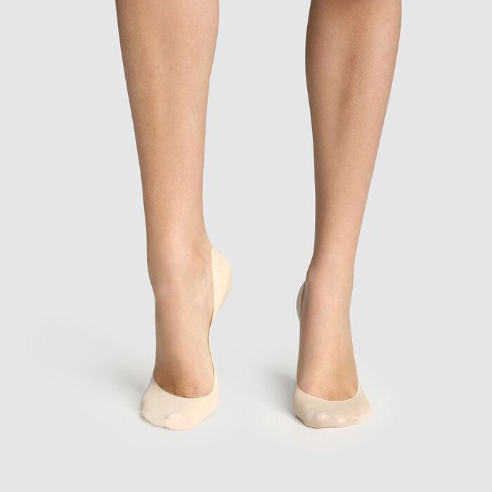 Lot de 2 protège-pieds naturel échancrure médium InvisiFit de Dim, , DIM