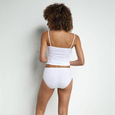 Lot de 2 culottes maxi blanches Femme Coton Plus Bio, , DIM