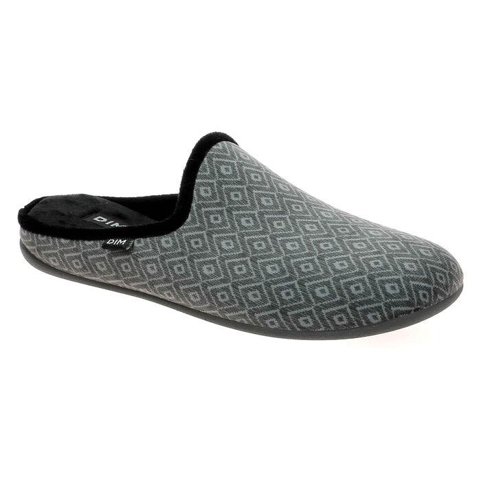 Pantoufles Homme Imprimé géométrique gris, , DIM