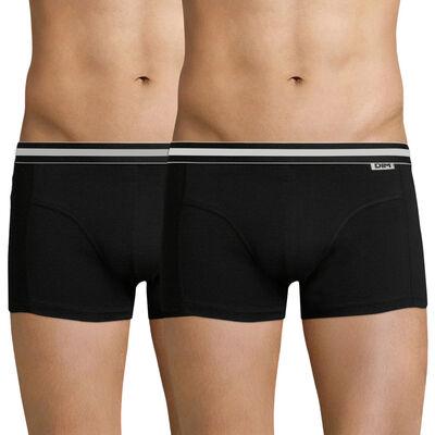 Lot de 2 boxers noirs EcoDIM en coton stretch, , DIM