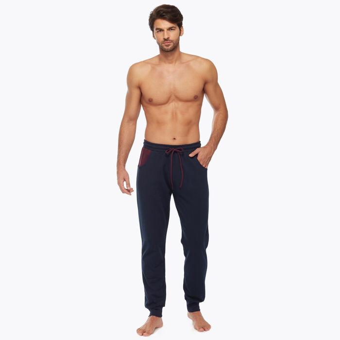 Pantalon de pyjama pour Homme Bleu et Bordeaux, , DIM