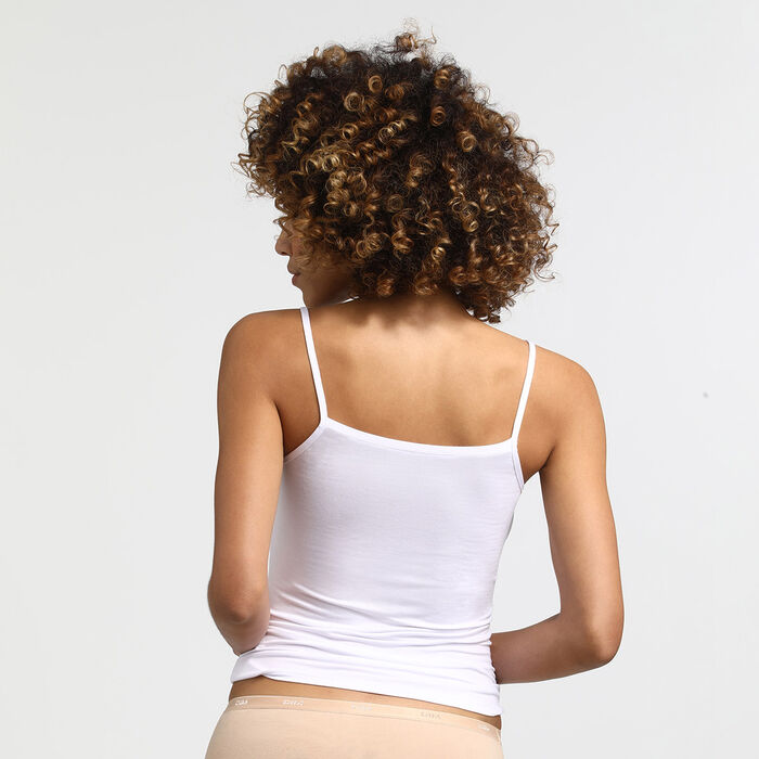 Caraco blanc Les Pockets en viscose, , DIM