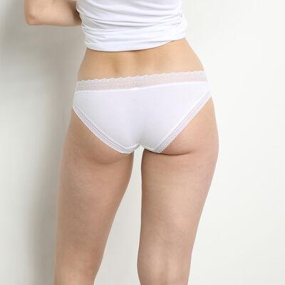 Lot de 2 slips noir et blanc Sexy Fashion en coton dentelle, , DIM