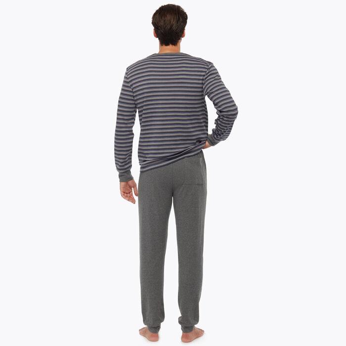 Ensemble de pyjama pour Homme Gris à rayures, , DIM