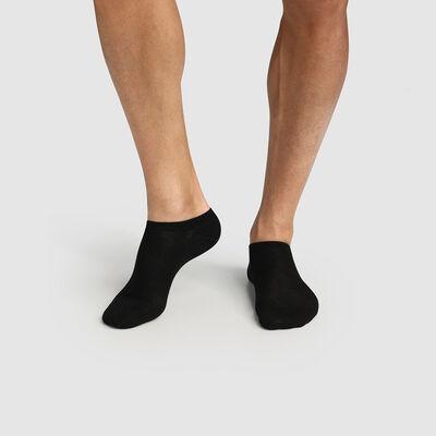 Lot de 2 paires de chaussettes hommes basses en coton bio noir Green by Dim, , DIM