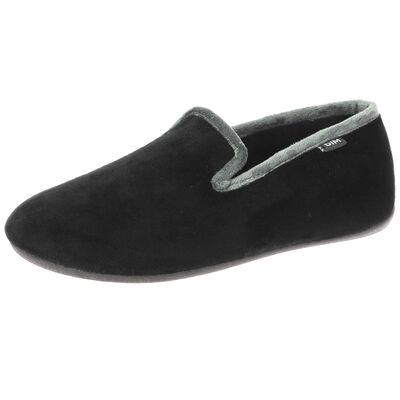 Chaussons noirs type charentaises pour Homme, , DIM
