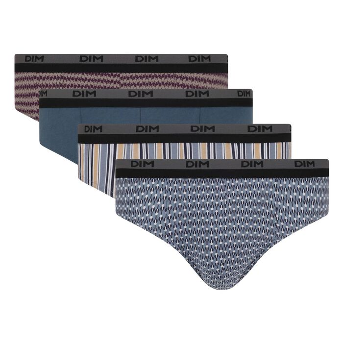 Lot de 4 slips imprimés éclipse Coton stretch , , DIM