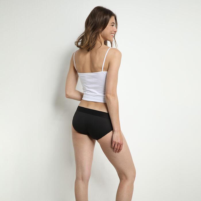 Lot de 2 culottes femme en coton stretch sans couture Noir Dim Sport, , DIM