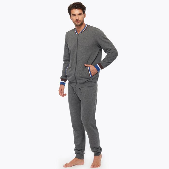 Ensemble de pyjama pour Homme Gris avec détails tricolores, , DIM