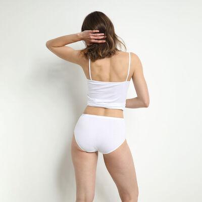 Lot de 2 culottes maxi noire et blanche en coton bio, , DIM