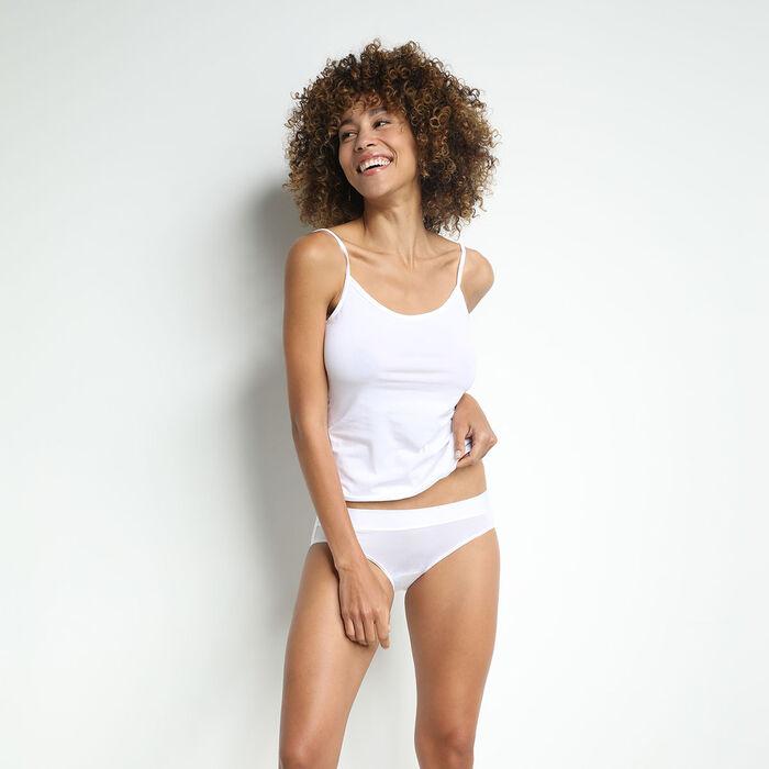 Lot de 2 culottes femme en coton stretch sans couture Blanc Dim Sport, , DIM