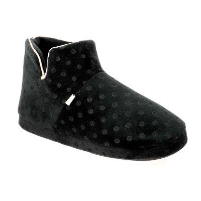 Chaussons bottines Femme noirs à pois, , DIM