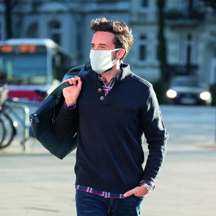 Lot de 5 masques barrières 100% coton, , DIM