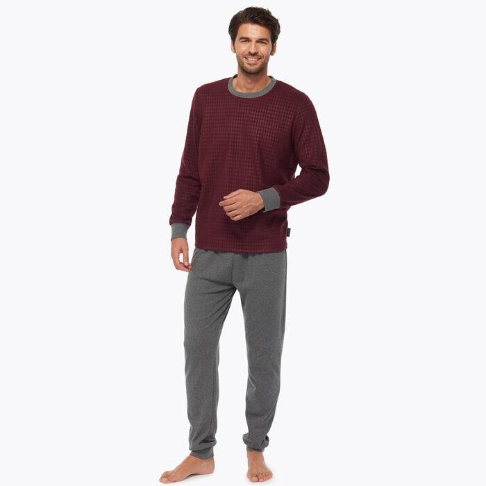 Ensemble de pyjama pour Homme Bordeaux imprimé géométrique, , DIM