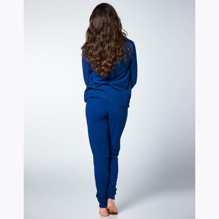 Ensemble de pyjama pour Femme en polaire Bleue, , DIM