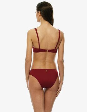 Bas de maillot de bain rouge foncé en microfibre, , LOVABLE
