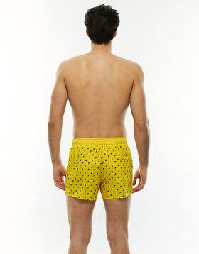 Short de bain court jaune imprimé parachute, , LOVABLE