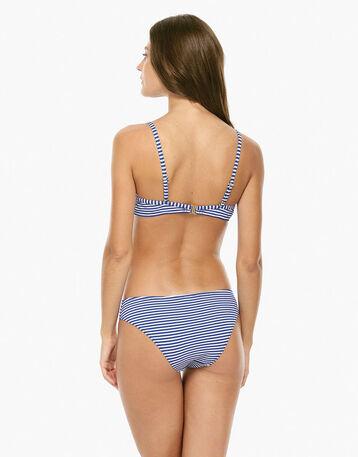 Haut de maillot de bain à armatures rayé bleu Femme-DIM