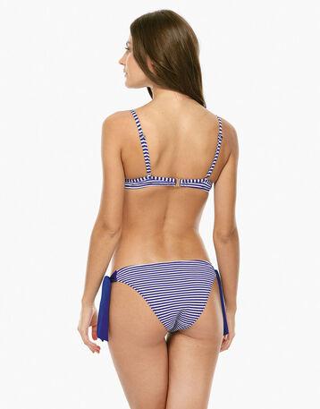 Haut de maillot de bain paddé rayé bleu Femme-DIM