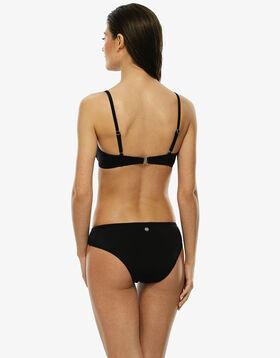 Bas de maillot de bain noir avec empiècements en résille, , LOVABLE