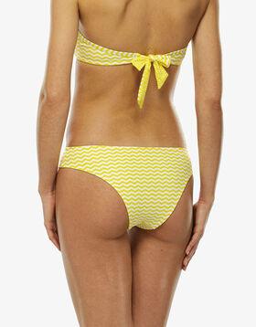 ff1a6b719c ... LOVABLE Bas de maillot de bain échancré jaune et blanc, , LOVABLE