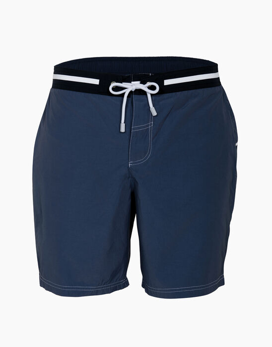 Short de bain mi-long bleu jean, , LOVABLE