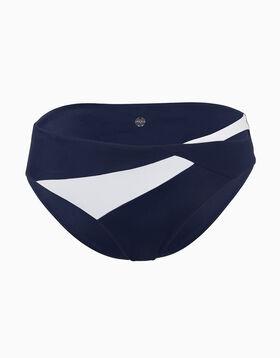 Bas de maillot de bain bleu marine et blanc en microfibre, , LOVABLE