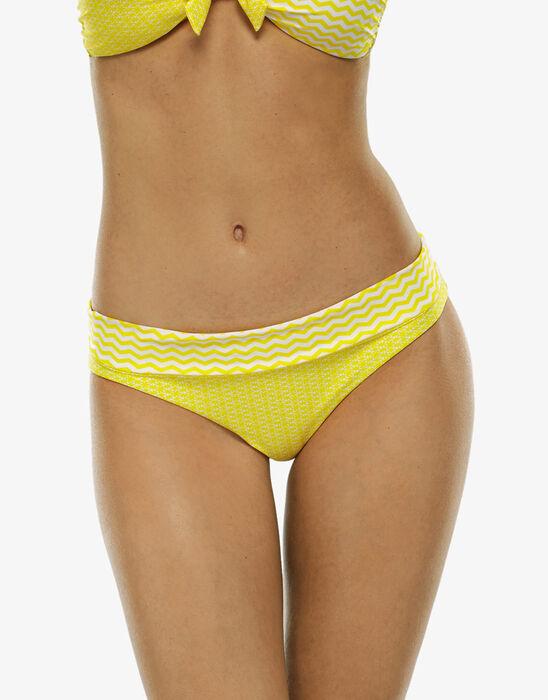Bas de maillot de bain réversible jaune et blanc, , LOVABLE