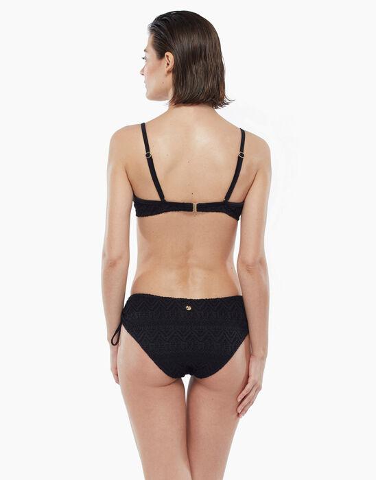 Haut de maillot de bain noir à imprimé géométrique avec armatures, , LOVABLE