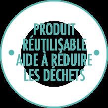 Produit réutilisable aide à réduire les déchets