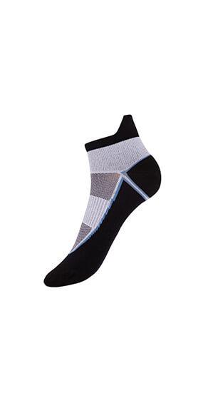 Socquettes courtes Femme impact fort noir blanc DIM Sport