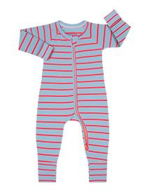 Pyjama bébé marinière bleu marine et fushia DIM Baby