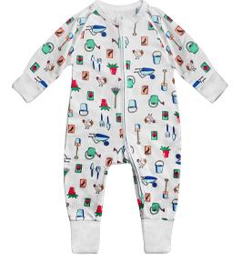 Pyjama bébé imprimé panda bleu DIM Baby