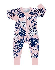 Pyjama bébé imprimé jungle tropicale rose DIM Baby