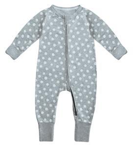 Pyjama bébé rayures roses et blanches DIM Baby