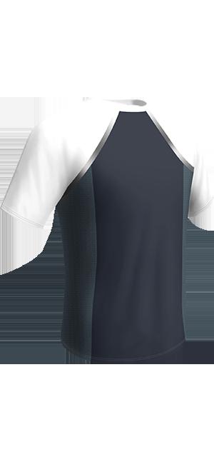 T-shirt bleu et blanc DIM Sport