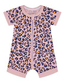 Barboteuse bébé imprimé léopard rose DIM Baby