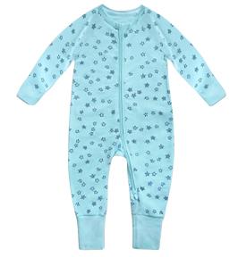 Pyjama bébé rayures bleues et blanches DIM Baby