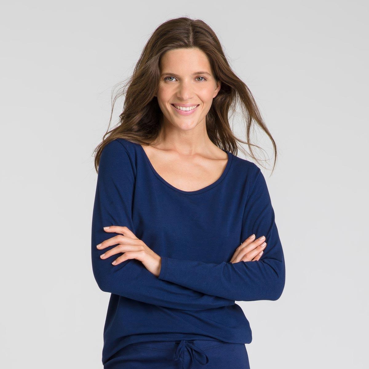 Tee-shirt manches longues bleu matelot Soft & Cool