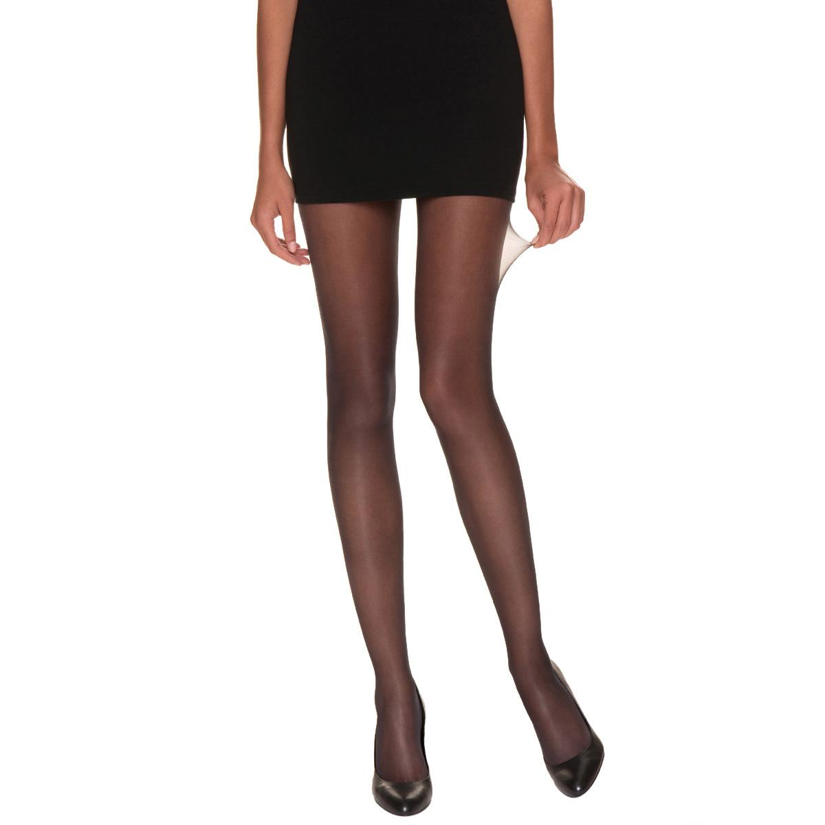 Collant Beauty Resist silhouette fine noir 15D