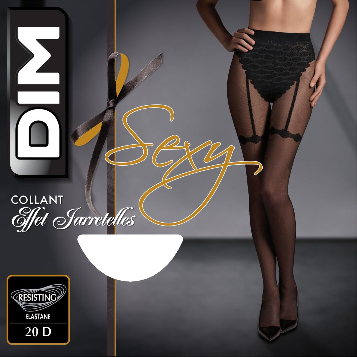 Collant So Sexy effet jarretelles noir 20D 6211eb85327