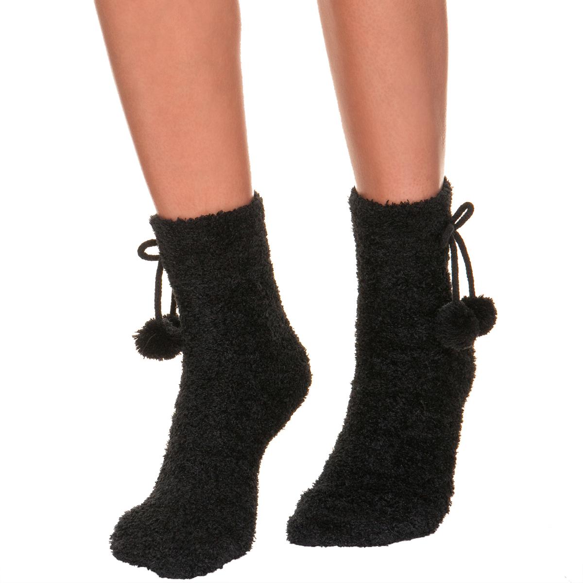 Mi-chaussettes noires Cocoon Femme