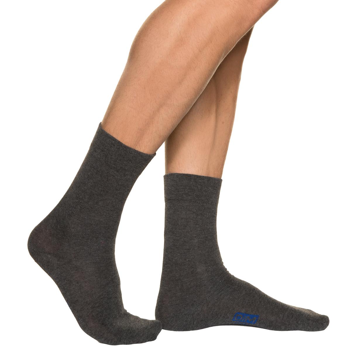 Lot de 3 paires de chaussettes anthracites Homme en Coton