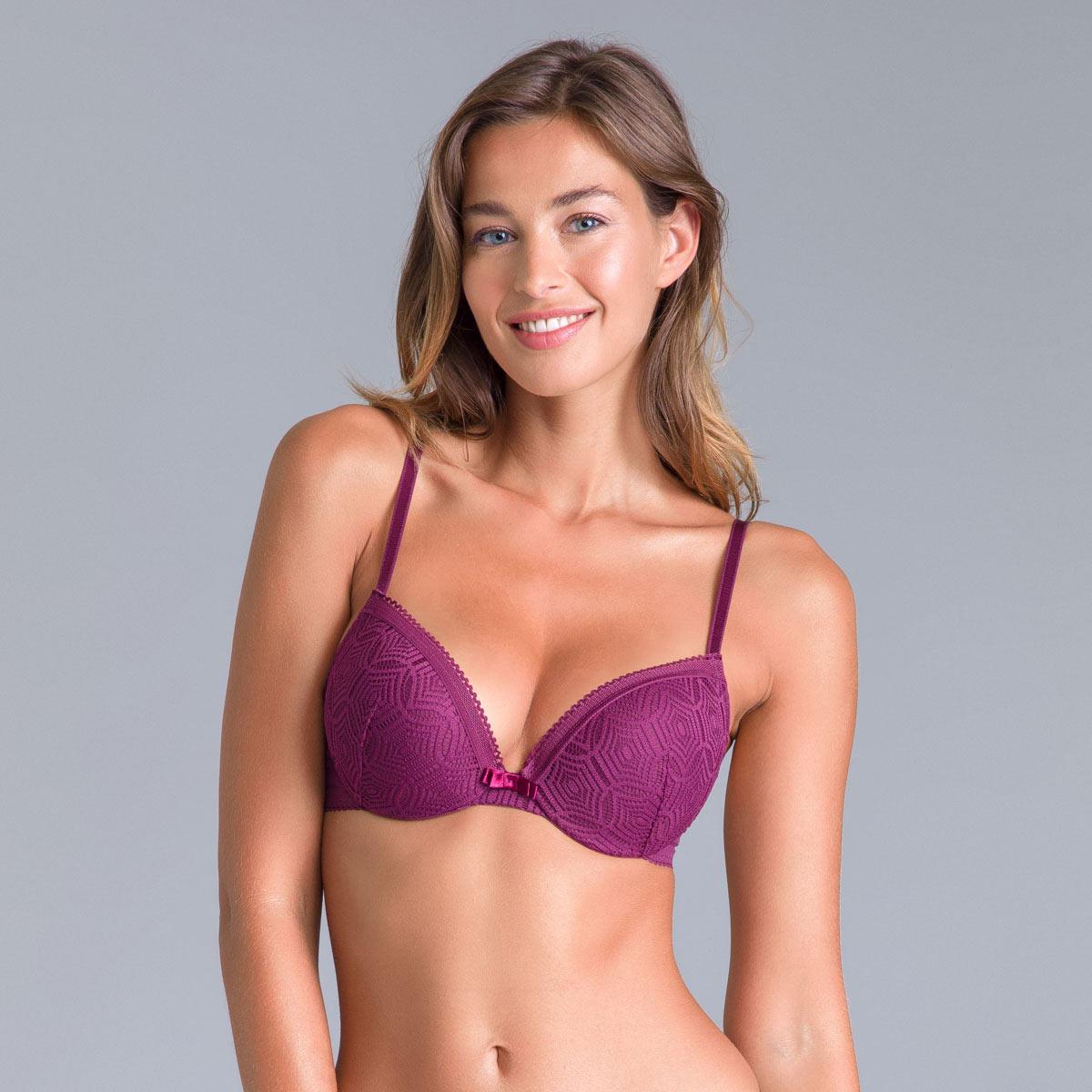 Soutien-gorge push-up dentelle violet Daily Glam