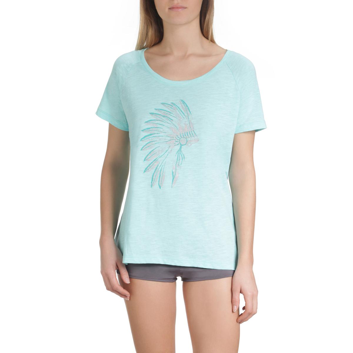 T-shirt de pyjama manches courtes bleu aqua Femme