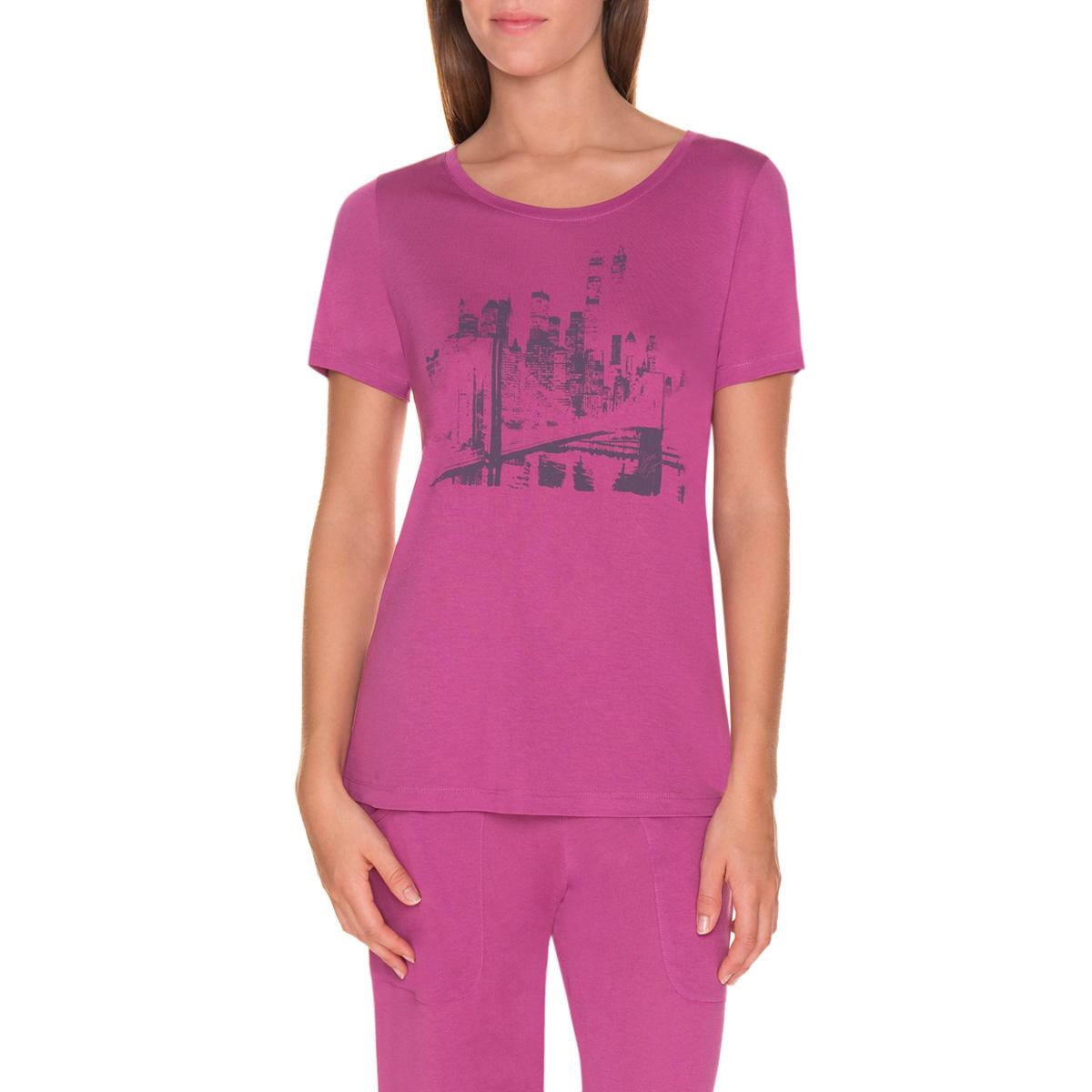 T-shirt de pyjama manches courtes violet cassis Femme