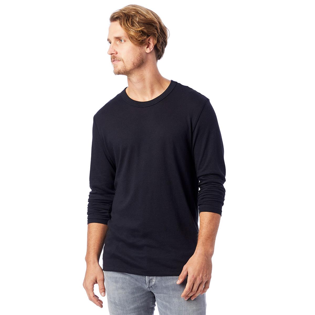 T-shirt noir à manches longues Homme