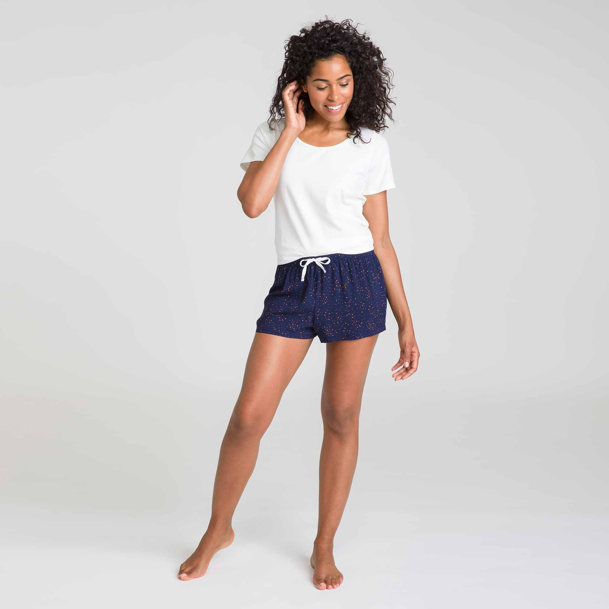 Short de nuit bleu matelot Soft & Cool
