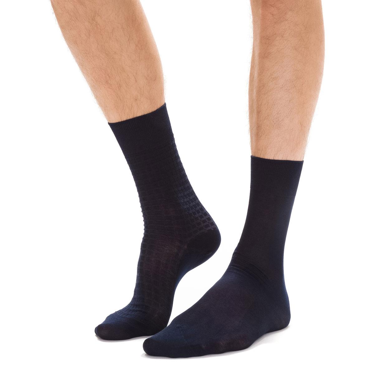 3d734f603701a Lot de 2 paires de chaussettes noires Fil d Ecosse Homme